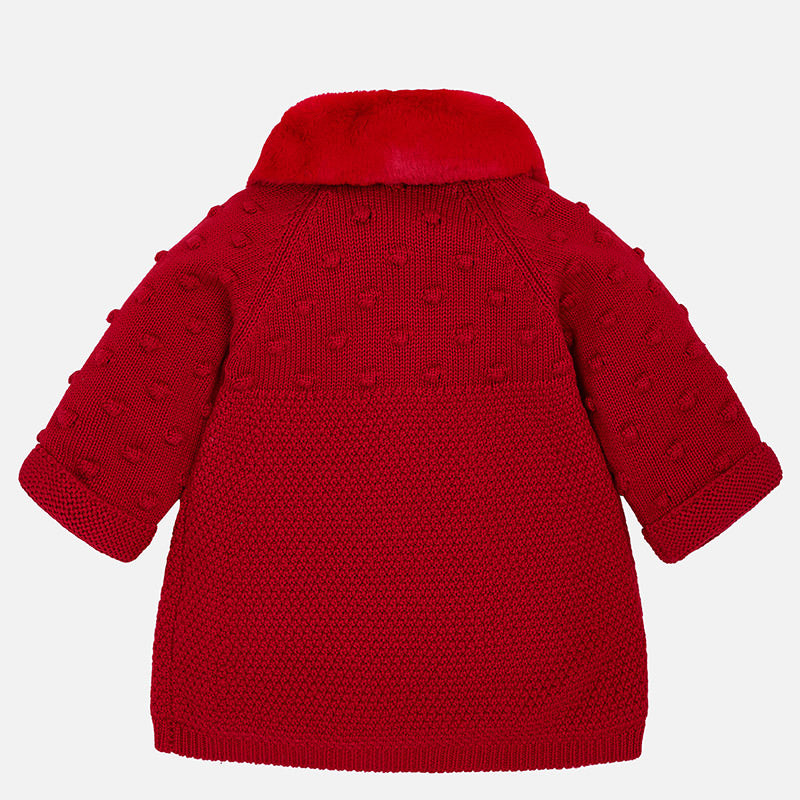 Baby Girl Knit Coat and Bonnet