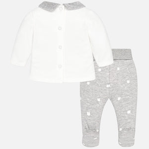 Baby Girl Set with Padded Footed Trousers