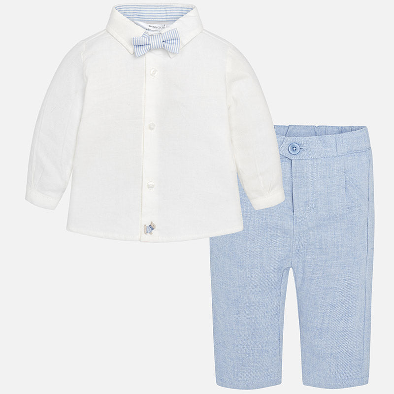 Baby Boy Set with Trousers, Shirt and Bowtie