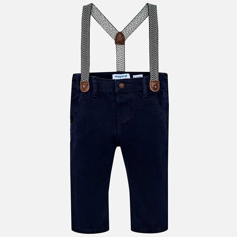 Baby Boy Chino Trousers with Suspenders