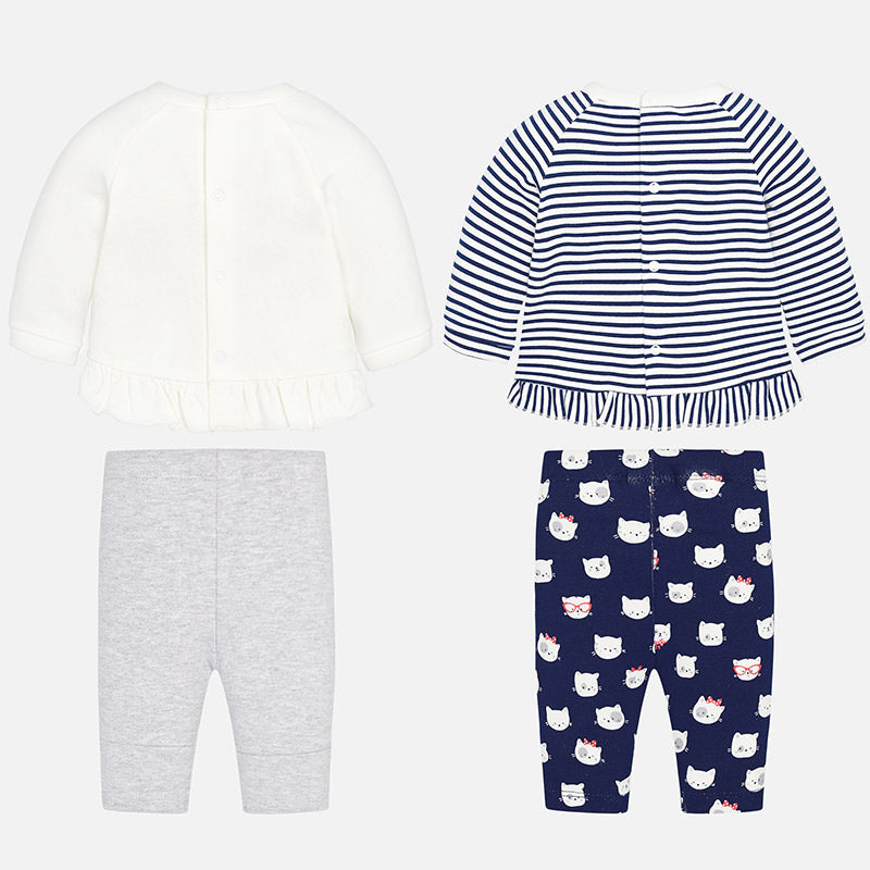 Baby Girl Four-Piece Jersey Set
