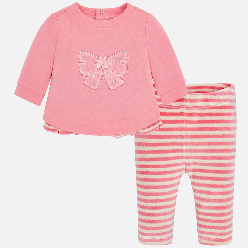 Baby Girl Striped Leggings Set