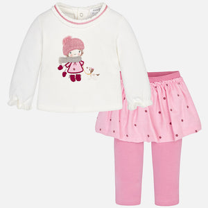 Baby Girl Skirt-Legging Set