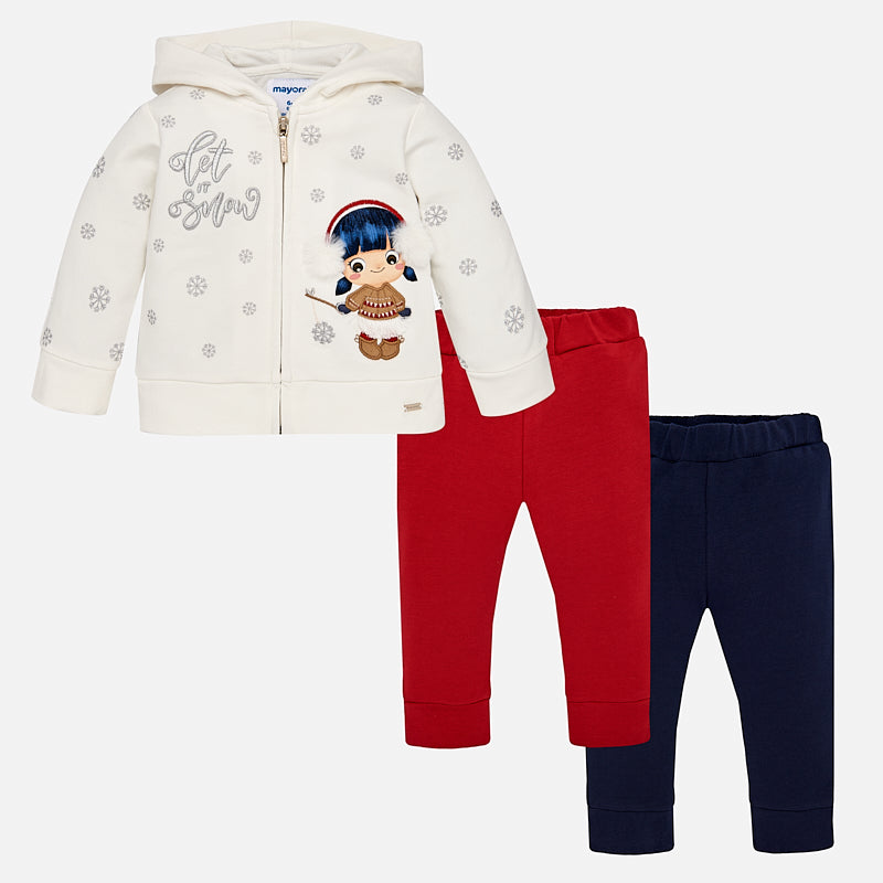 Baby Girl Three Piece Tracksuit