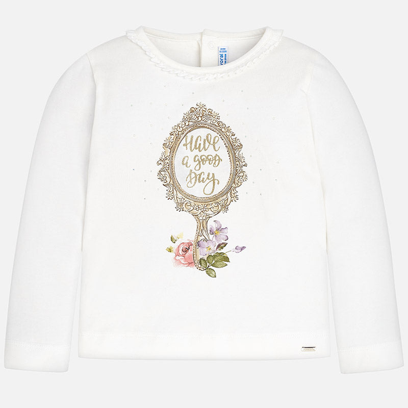 Girl Long Sleeved Printed T-Shirt