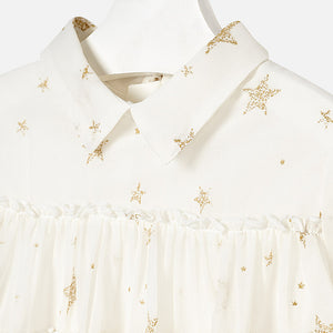 Girl Star Print Chiffon Blouse