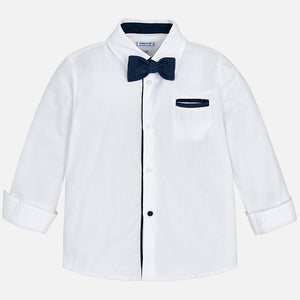 Boy Long Sleeved Shirt with Bow-tie