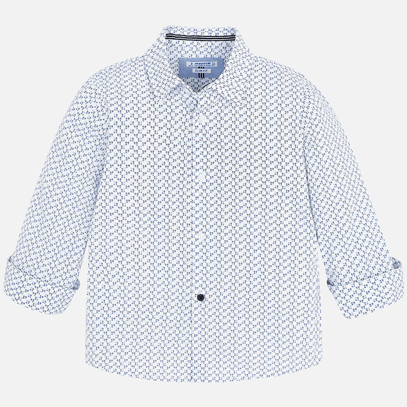 Boy Micro-patterned Long Sleeved Shirt