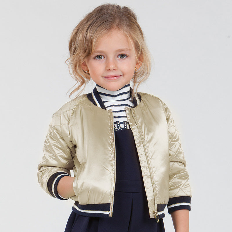 Girl Metallic Jacket