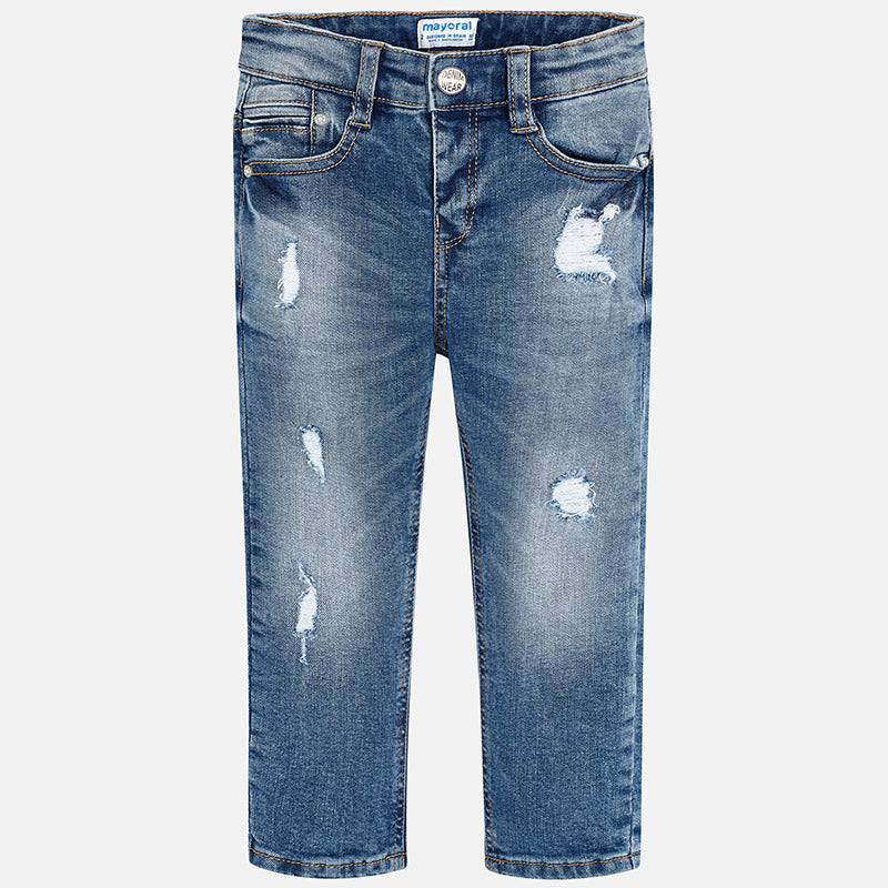Boy Ripped Denim Trousers Loose Fit