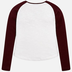 Girl Long Sleeved T-Shirt with Contrasts