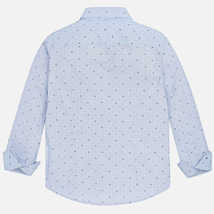 Boy Long Sleeved Patterned Shirt