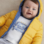 Mayoral Newborn Boy Long Sleeved Shirt with Print Design Set