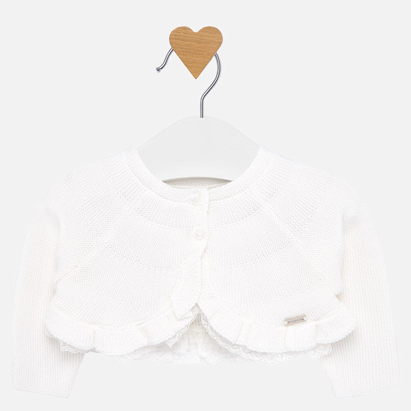 Mayoral Newborn Girl Formal Cardigan