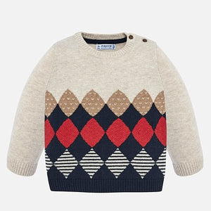 Mayoral Baby Boy Rhombus Patterned Sweater