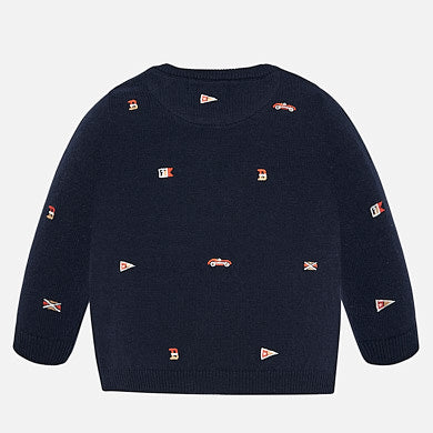 Mayoral Baby Boy Embroidered Sweater