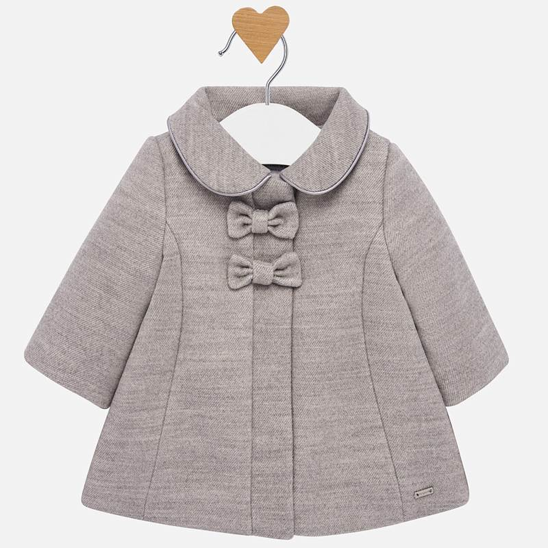 Mayoral Baby Girl Mouflon Bow Coat