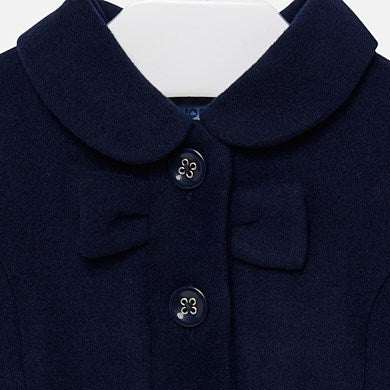 Mayoral Baby Girl Mouflon Coat with Bow