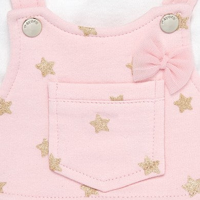 Mayoral Newborn Girl Dungaree Skirt and Headband Set