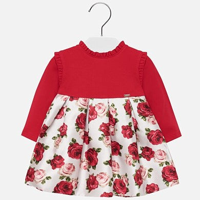 Mayoral Baby Girl Combined Flowers Dress