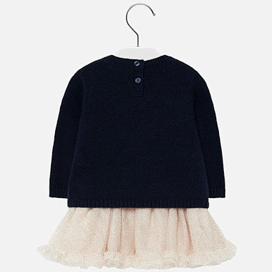 Mayoral Baby Girl Tulle Dress with Kitten Design