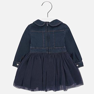 Mayoral Baby Girl Embroidered Denim Dress
