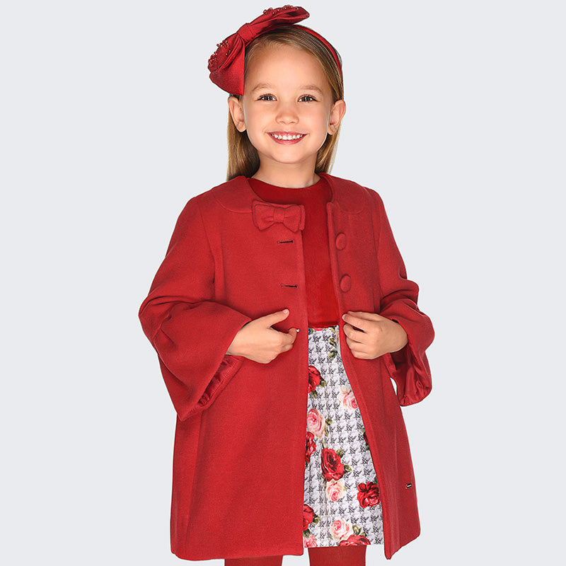 Mayoral Girl Mouflon Ruffle Coat