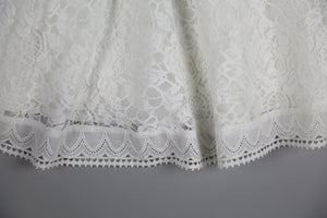 Rebellious Rose Lace with Flowers White Dress