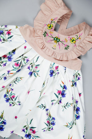 Rebellious Rose Pink Embroidery Dress