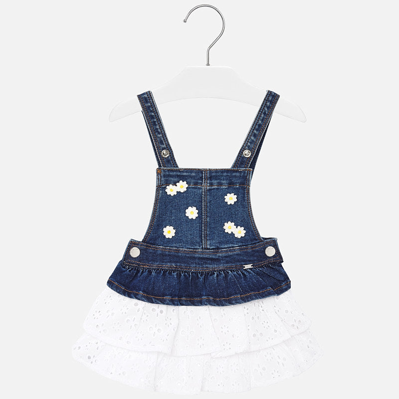 Mayoral Baby Combined Denim Skirt Dungarees
