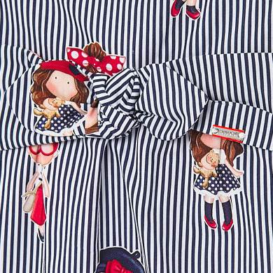 Mayoral Baby Girl Patterned Striped Dress with Bow
