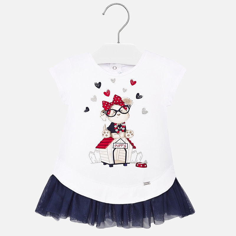 Mayoral Baby Girl Combined Tulle Dress