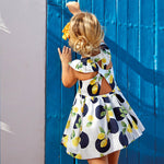 Mayoral Girl Patterned Lemon Dress