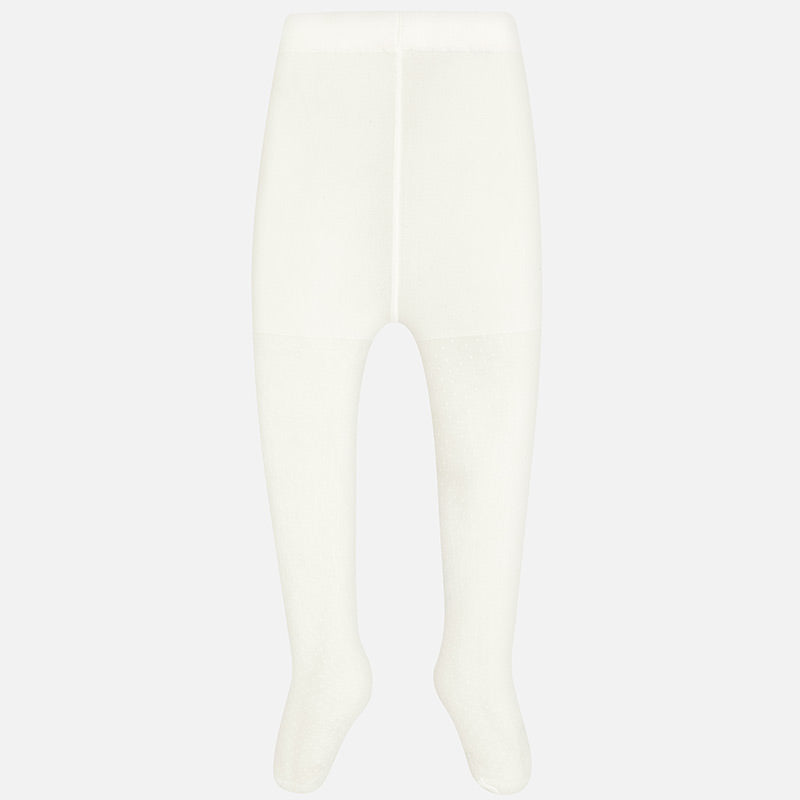 Mayoral Girl Plain Tights Off-White