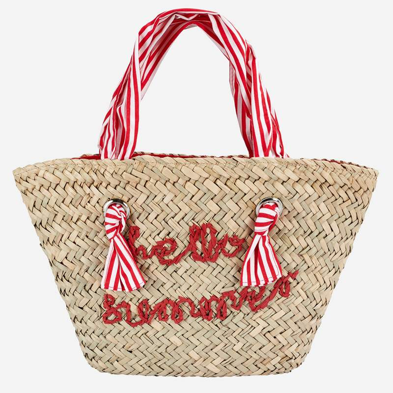 Mayoral Hello Summer Raffia Bag for Girl