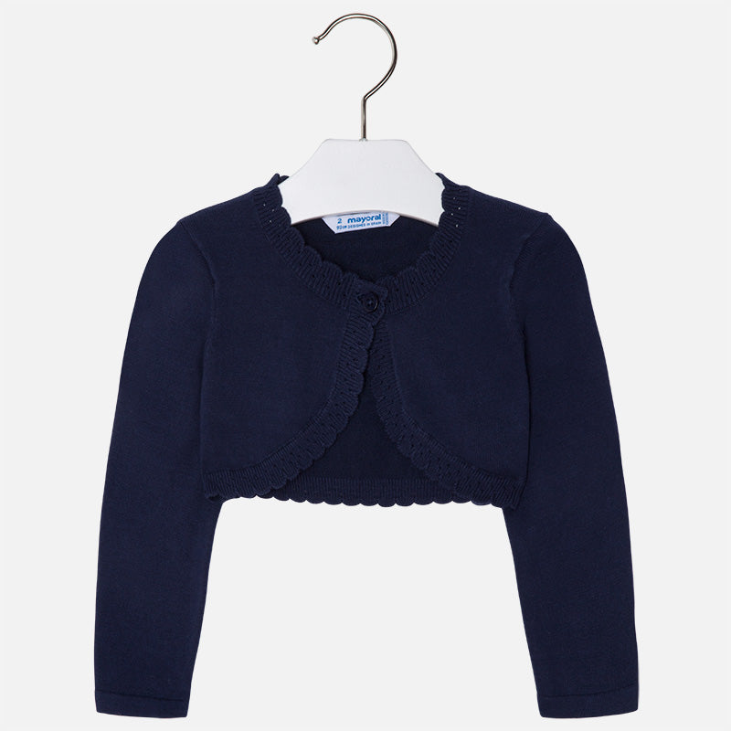 Mayoral Girl Basic Knit Cardigan Navy Colour