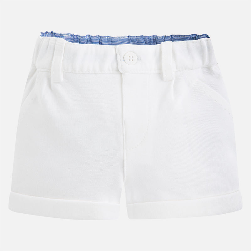 Mayoral Baby Boy Knitted Shorts Off-White Colour