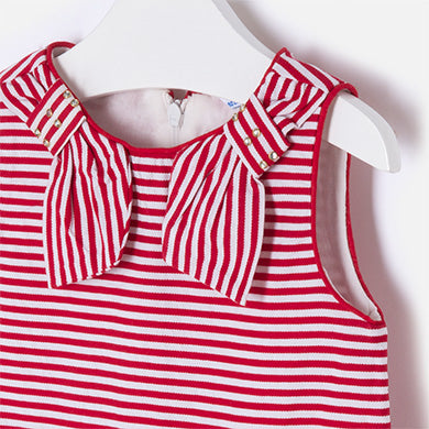 Mayoral Baby Girl Low Waist Dress Red Colour