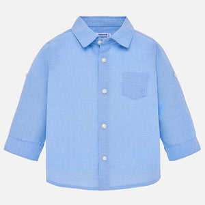 Mayoral Baby Boy Sleeved Linen Shirt