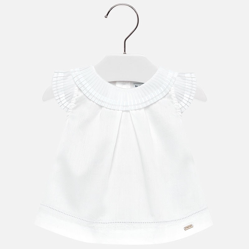 Mayoral Baby Girl Pleated Blouse