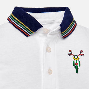 Mayoral Baby Boy Short Sleeved Applique Polo Shirt