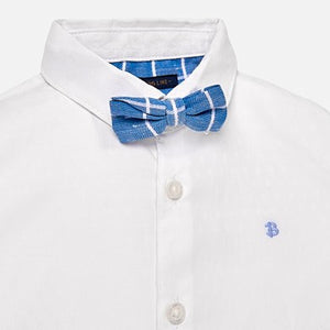 Mayoral Baby Boy Long Sleeved Shirt with Bow-tie