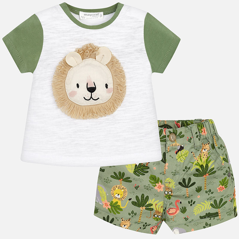 Mayoral Baby Boy Lion T-Shirt and Shorts Set
