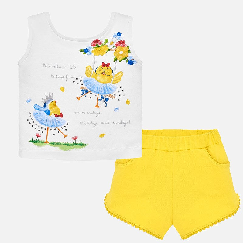 Mayoral Baby Girl T-Shirt and Shorts Set