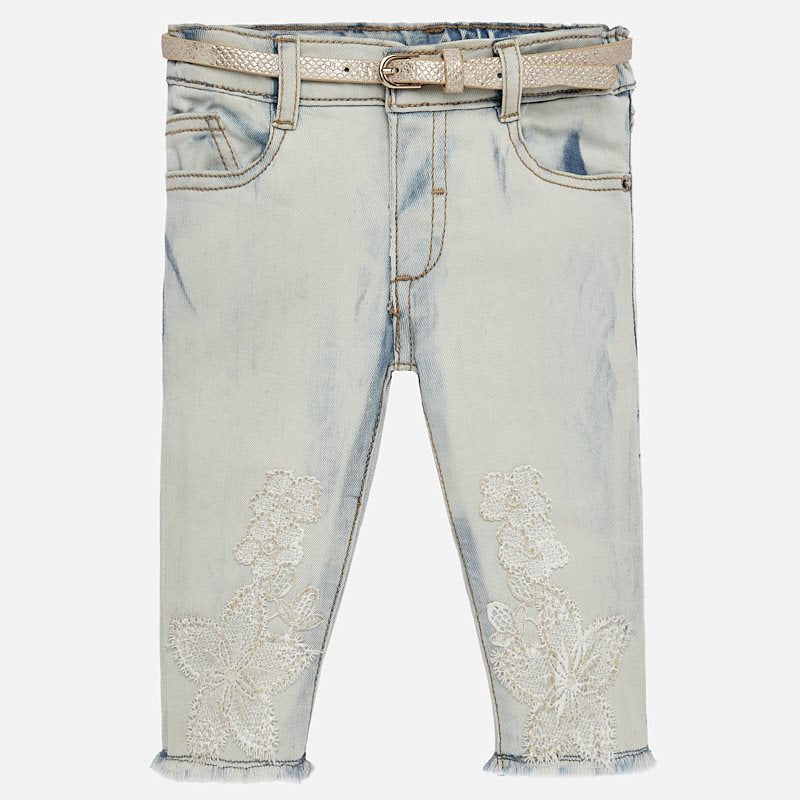 Mayoral Baby Girl Embroidered Trousers