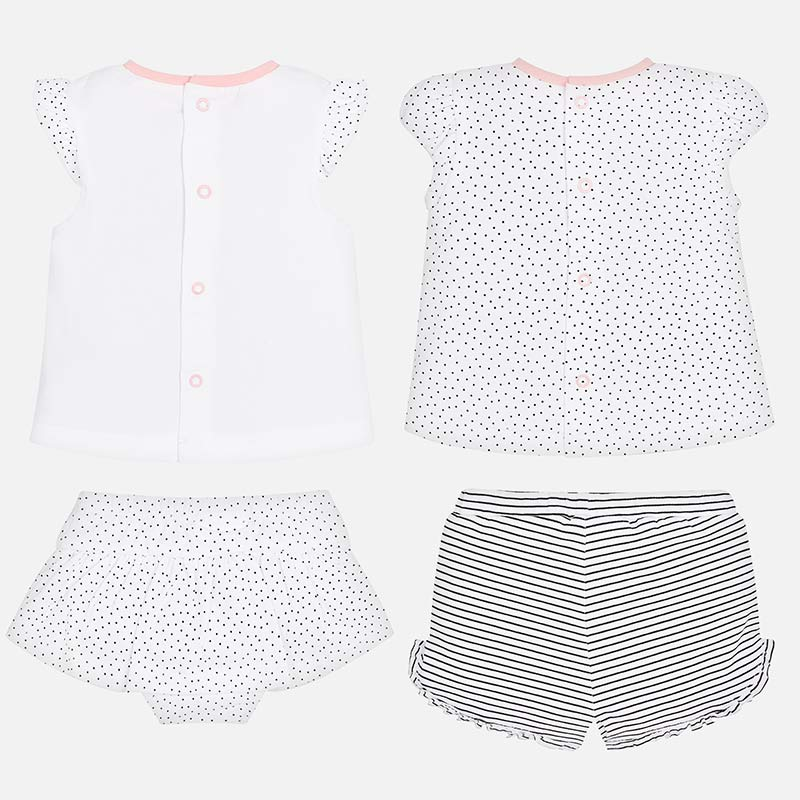 Mayoral Baby Girl Patterned T-Shirts and Shorts Set