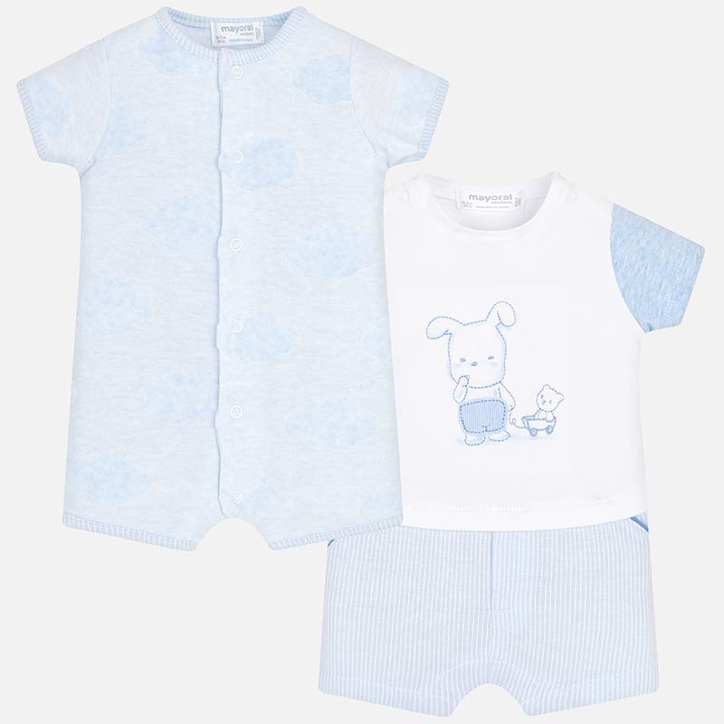 Mayoral Baby Boy Set of Short Patterned Babygrows