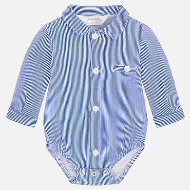 Mayoral Baby Boy Long Sleeved Bodysuit with Collar