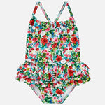 Mayoral Baby Girl Ruffled Patterned Swimsuit
