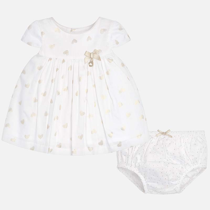 Mayoral Baby Girl Patterned Dress with Knickers